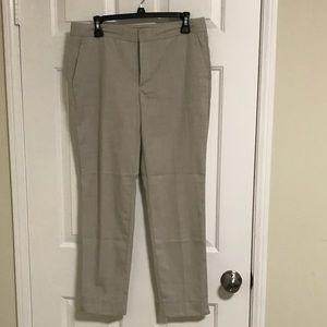 Zara tan linen trousers